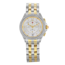 Michele Belmore MWW29B000006 Stainless Steel Yellow Gold Quartz 37mm Womens Watch