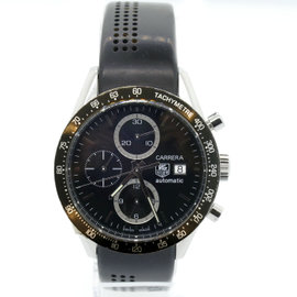 Tag Heuer Carrera CV2010-3 Stainless Steel Rubber Automatic 41mm Mens Watch