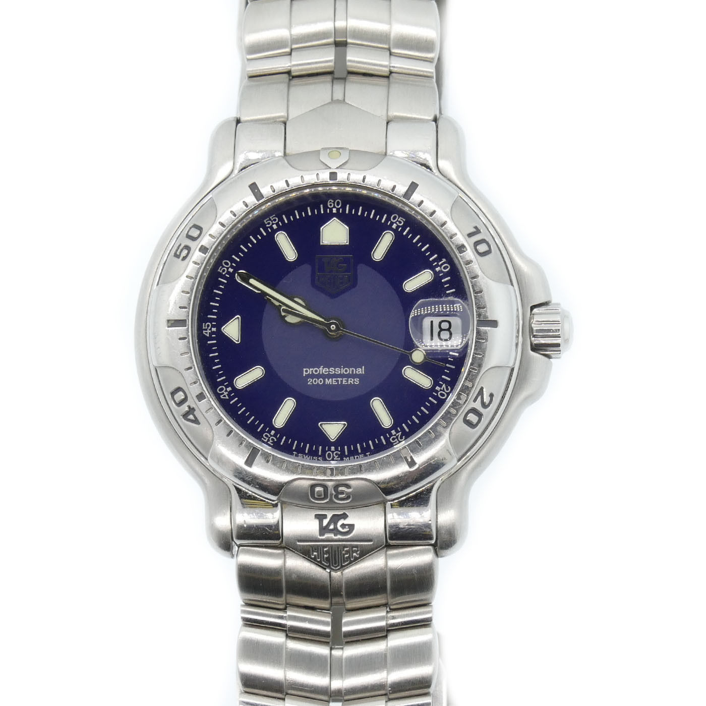 """Image of """"Tag Heuer Professional Wh1115 Stainless Steel Quartz 39mm Mens Watch"""""""