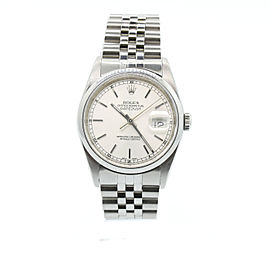 Rolex Datejust 16200 Stainless Steel Silver Dial 36mm Unisex Watch