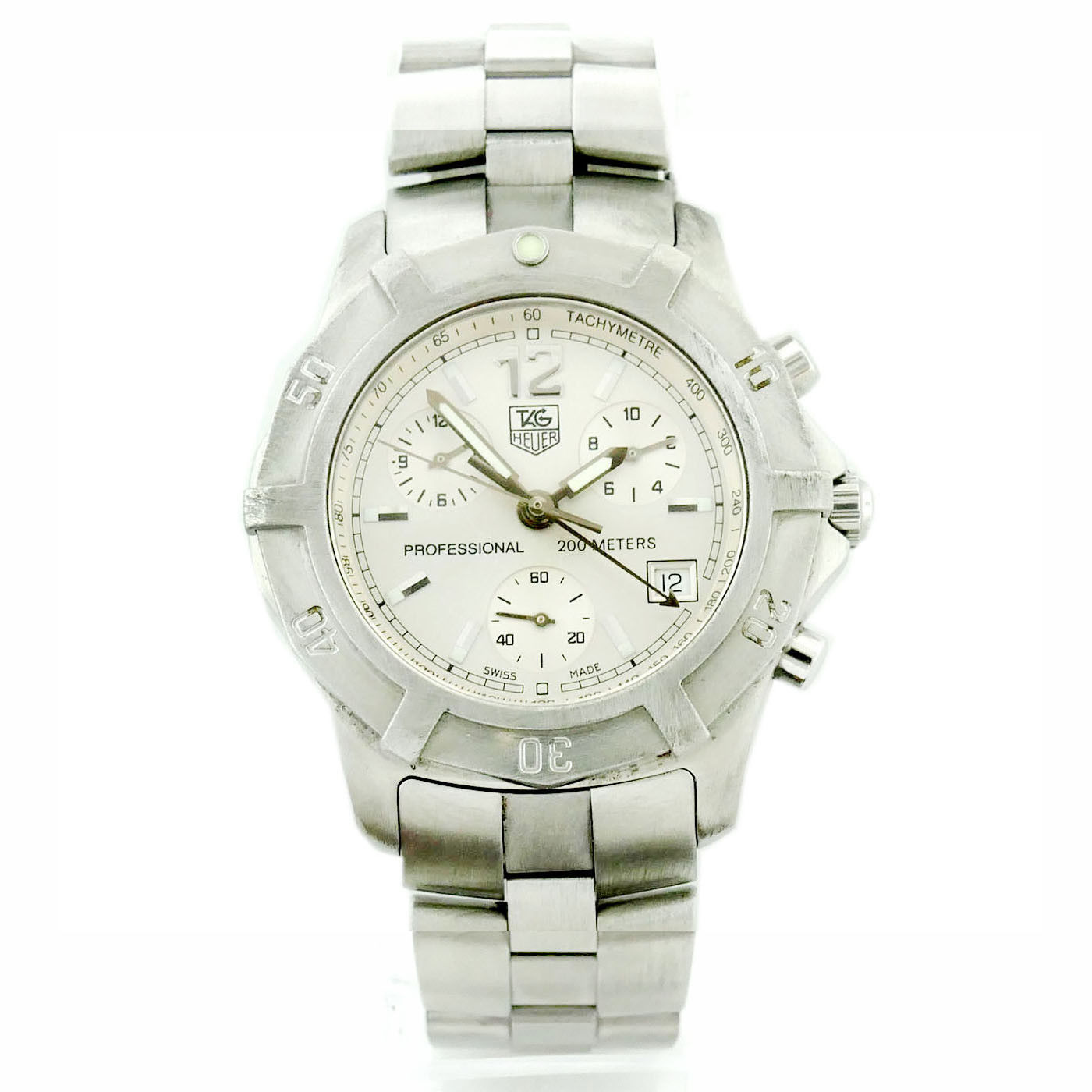 """Image of """"Tag Heuer Professional Cn1111 Stainless Steel with Silver Dial 38mm"""""""