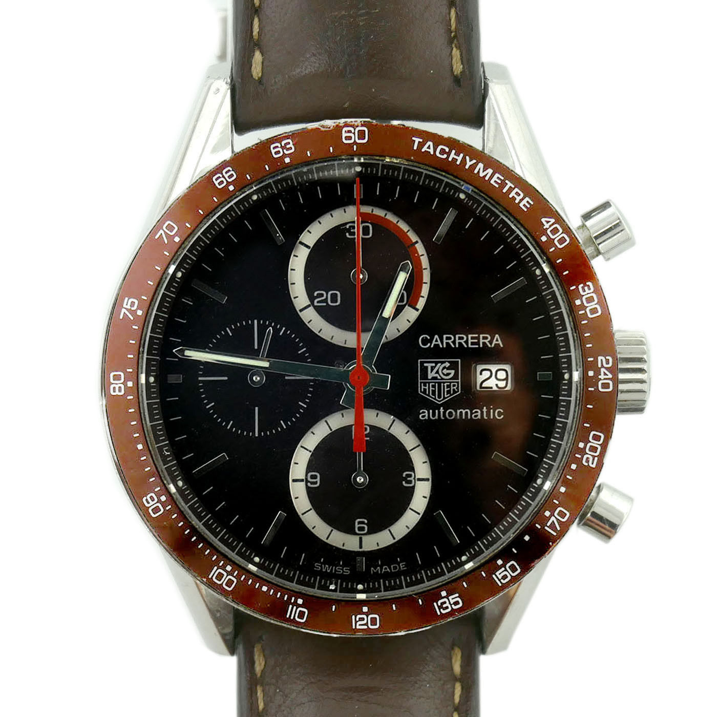 "Image of ""Tag Heuer Carrera Cv2013-2 Stainless Steel with Brown Dial 41mm Mens"""