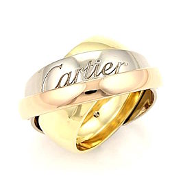 Cartier Trinity 18K Yellow, Rose and White Gold Triple Band Ring Size 6