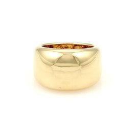 Cartier Nouvelle Vague 18K Yellow Gold Dome Ring Size 5.5