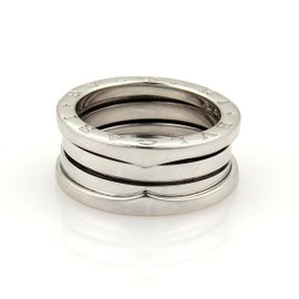 Bulgari B Zero-1 18K White Gold Ring Size 4