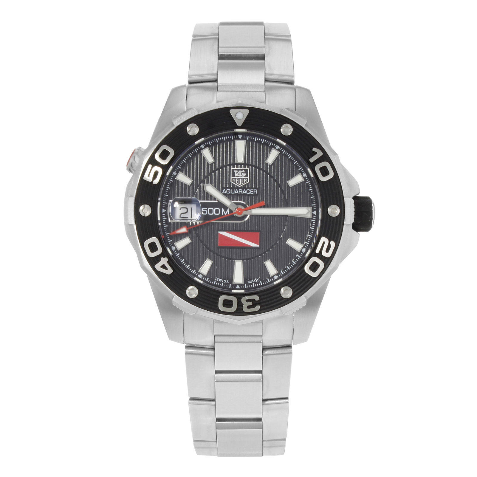 "Image of ""Tag Heuer Aquaracer Waj211A.ba0870 Stainless Steel Automatic 43mm Mens"""