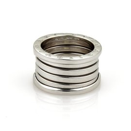 Bulgari B Zero 1 18K White Gold Band Ring Size 6.75