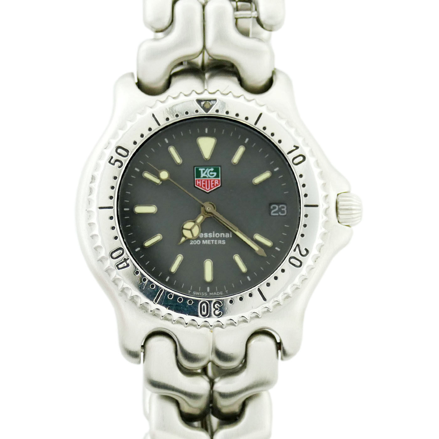 "Image of ""Tag Heuer S99.206E Stainless Steel Grey Dial Quartz 38mm Unisex Watch"""