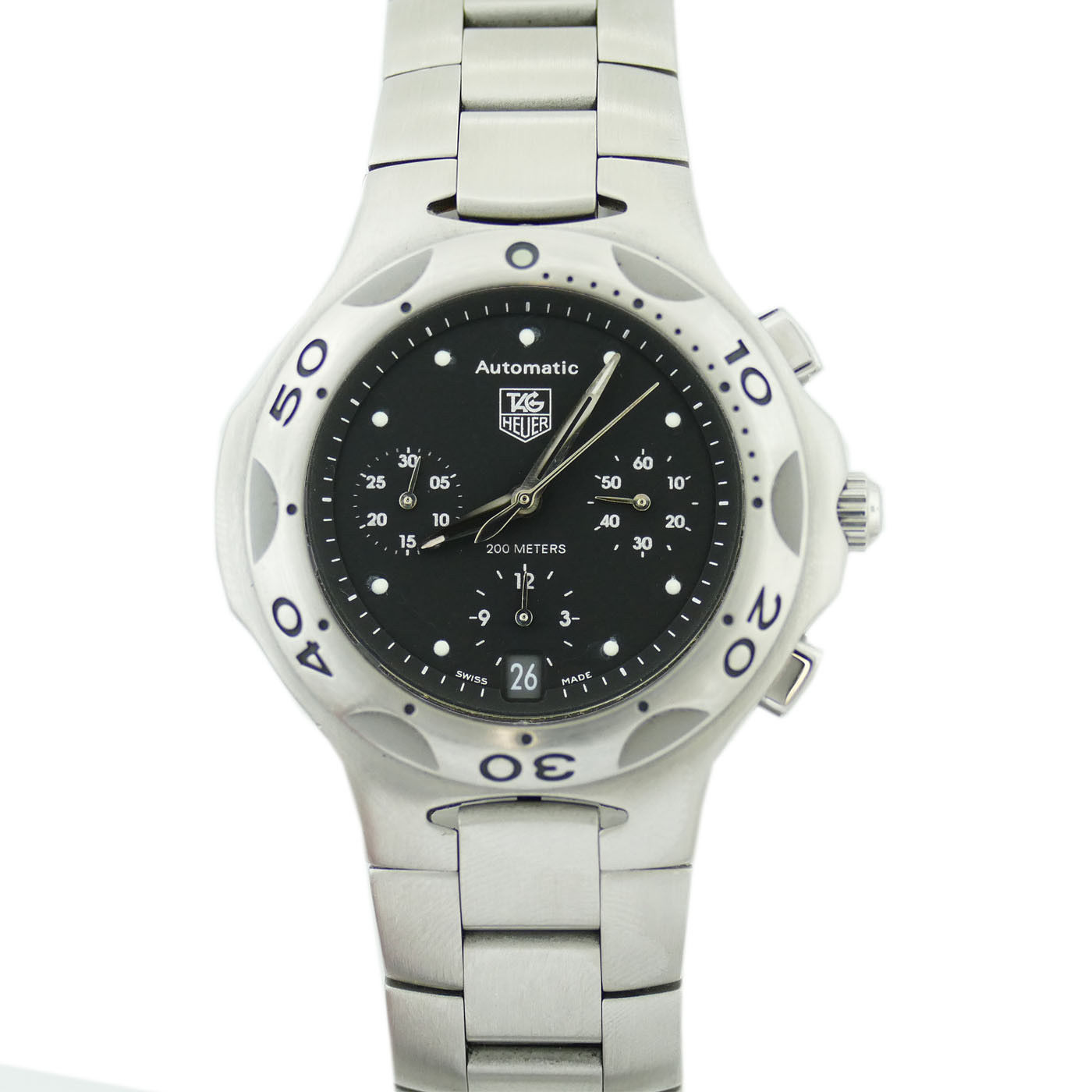 """Image of """"Tag Heuer Kirium Chrono Cl2110 Stainless Steel 40mm Mens Watch"""""""