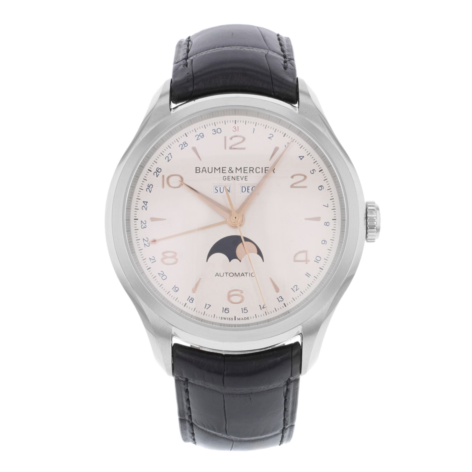 "Image of ""Baume & Mercier Clifton Moa10055 Stainless Steel Automatic 43mm Mens"""