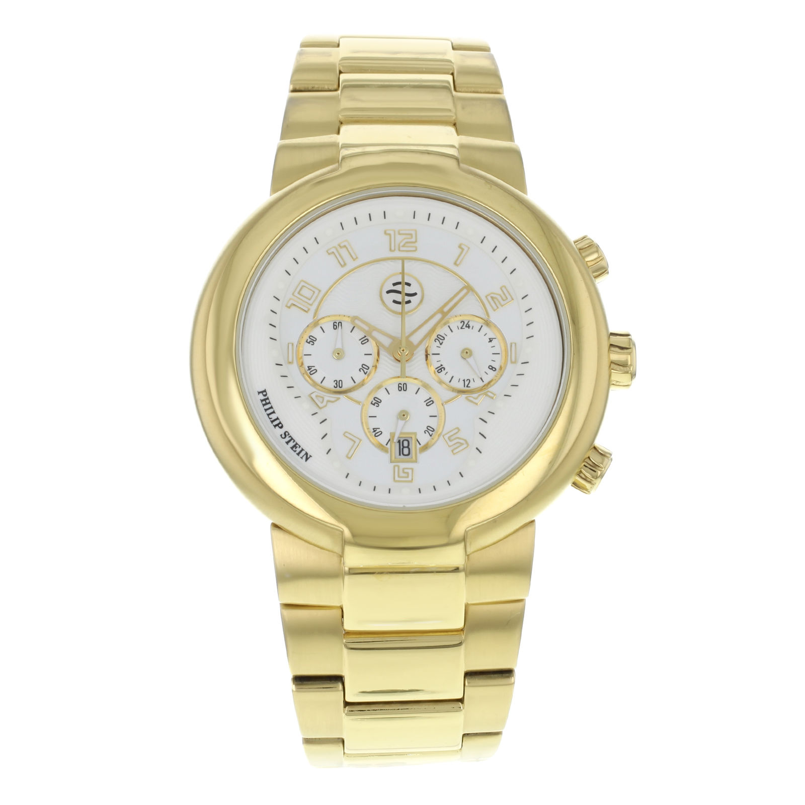 "Image of ""Philip Stein Large Chronograph 32-Agw-Gss Gold Tone Stainless Steel"""