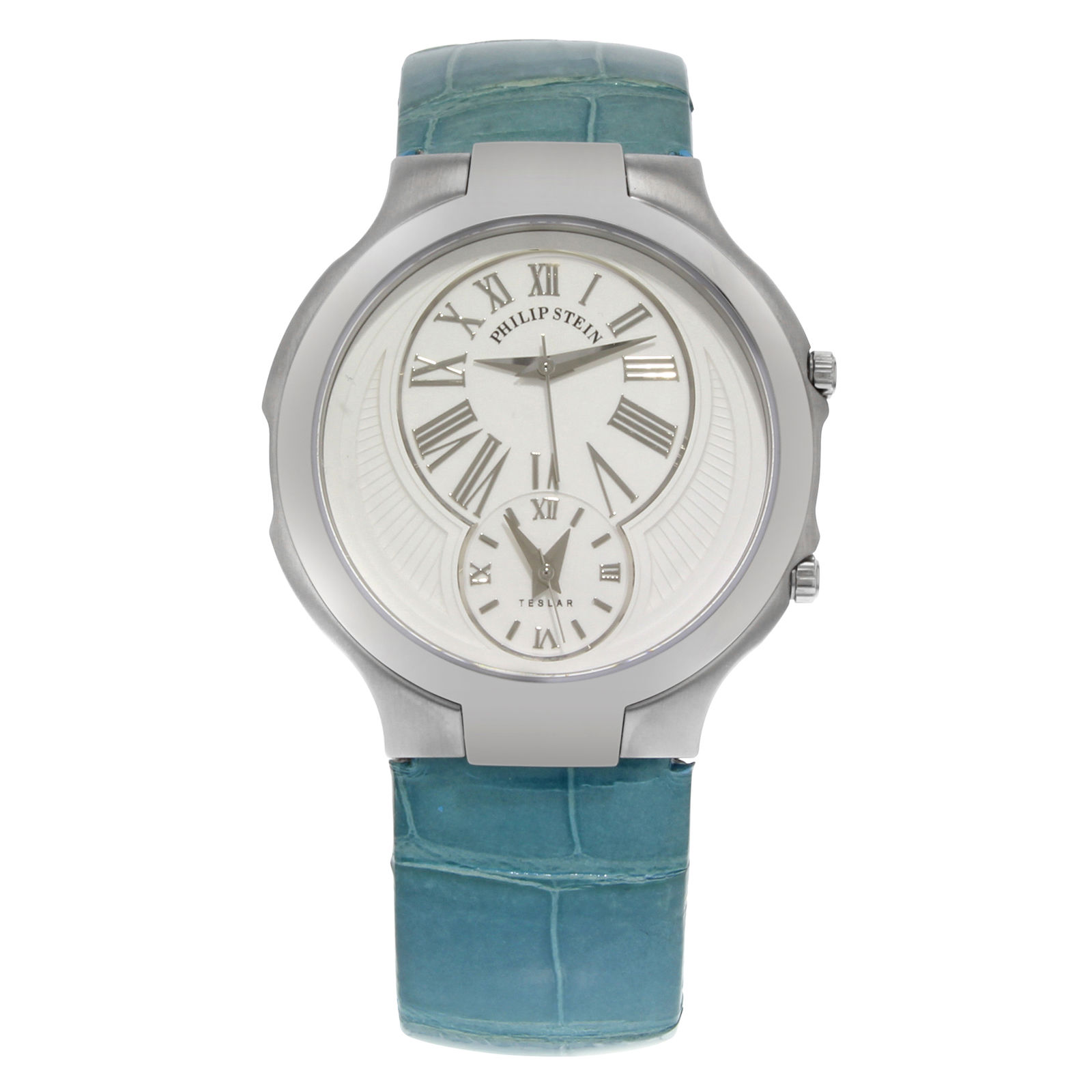 "Image of ""Philip Stein Teslar Stainless Steel Dual Time Quartz 40mm Unisex Watch"""