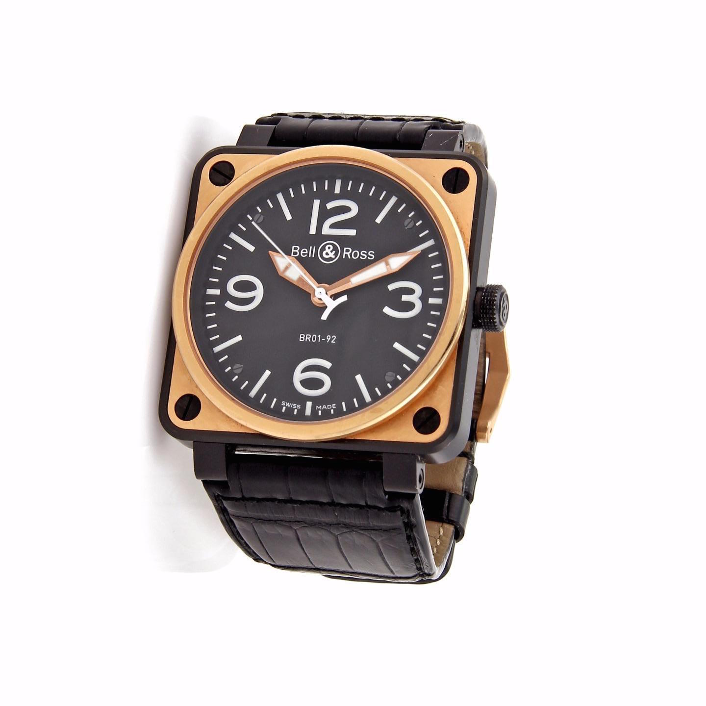 """Image of """"Bell & Ross Aviation Bro1-92 18K Rose Gold & Stainless Steel Automatic"""""""