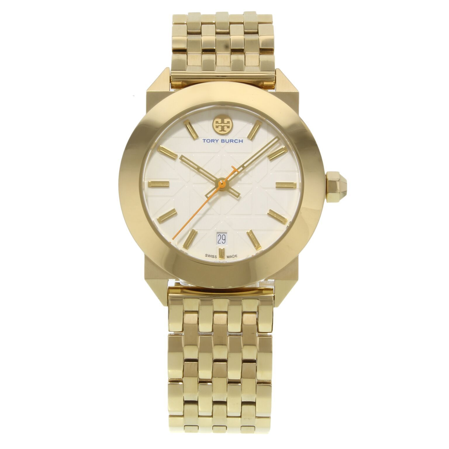 "Image of ""Tory Burch Whitney Trb8002 Gold Tone Stainless Steel Quartz 35mm"""