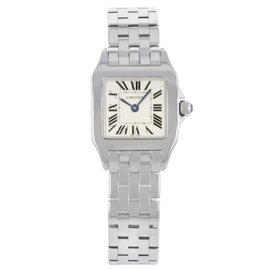 Cartier Santos Demoiselle W25064Z5 Stainless Steel Quartz 20mm Womens Watch