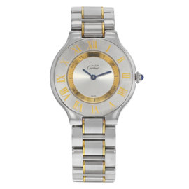 Cartier Must de Cartier 21 1330 Stainless Steel and Gold Plated Quartz 31mm Womens Watch