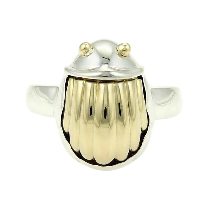 """Image of """"Tiffany & Co. Sterling Silver and 18K Yellow Gold Scarab Beetle"""""""