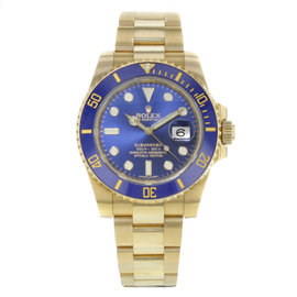 Rolex Submariner 116618 bl 18K Yellow Gold Automatic 40mm Mens Watch