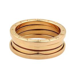 Bulgari B Zero-1 18K Rose Gold Band Ring Size 10