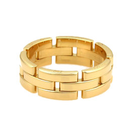 Cartier Maillon Panthere 18K Yellow Gold Band Ring Size 11.25