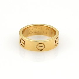 Cartier Love 18K Yellow Gold Wide Band Ring Size 4.75