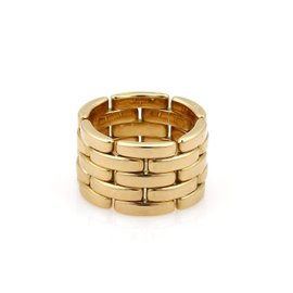 Cartier Maillon Panthere 18K Yellow Gold 5 Rows Band Ring Size 7