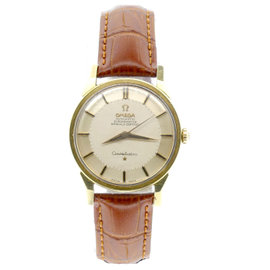 Omega Constellation Pie Pan 18K Yellow Gold/Stainless Steel Gold Dial Automatic 34mm Mens Vintage Watch