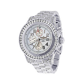 Breitling Super Avenger A13370 Stainless Steel & Diamond 48mm Mens Watch