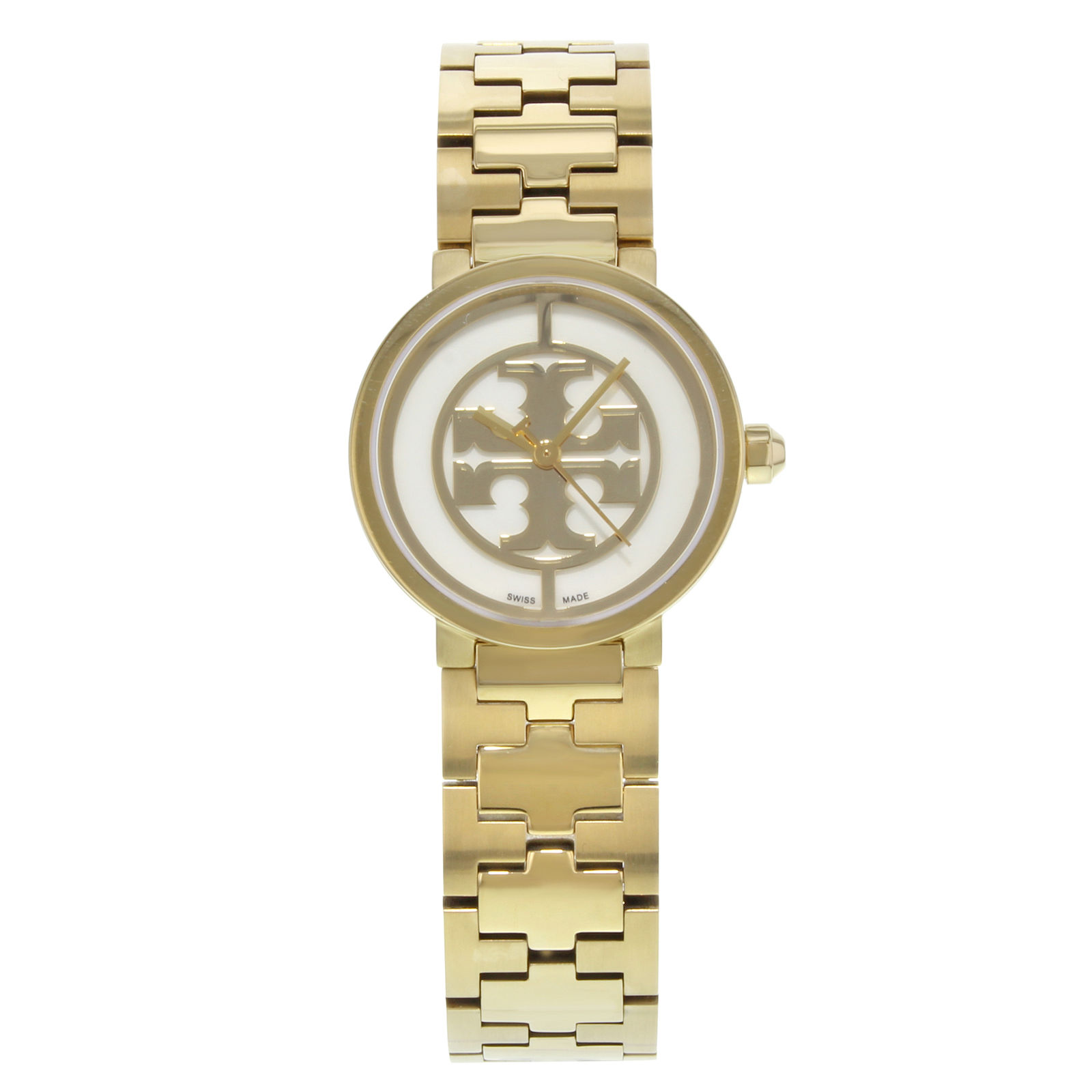 "Image of ""Tory Burch Reva Trb4011 Gold Toned Stainless Steel Quartz 28mm Womens"""