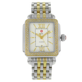 Michele Deco MWW06T000061 Stainless Steel & Yellow Gold Quartz 33mm Womens Watch