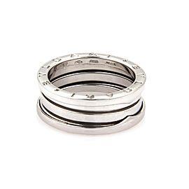 Bulgari B Zero-1 18K White Gold Band Ring Size 9