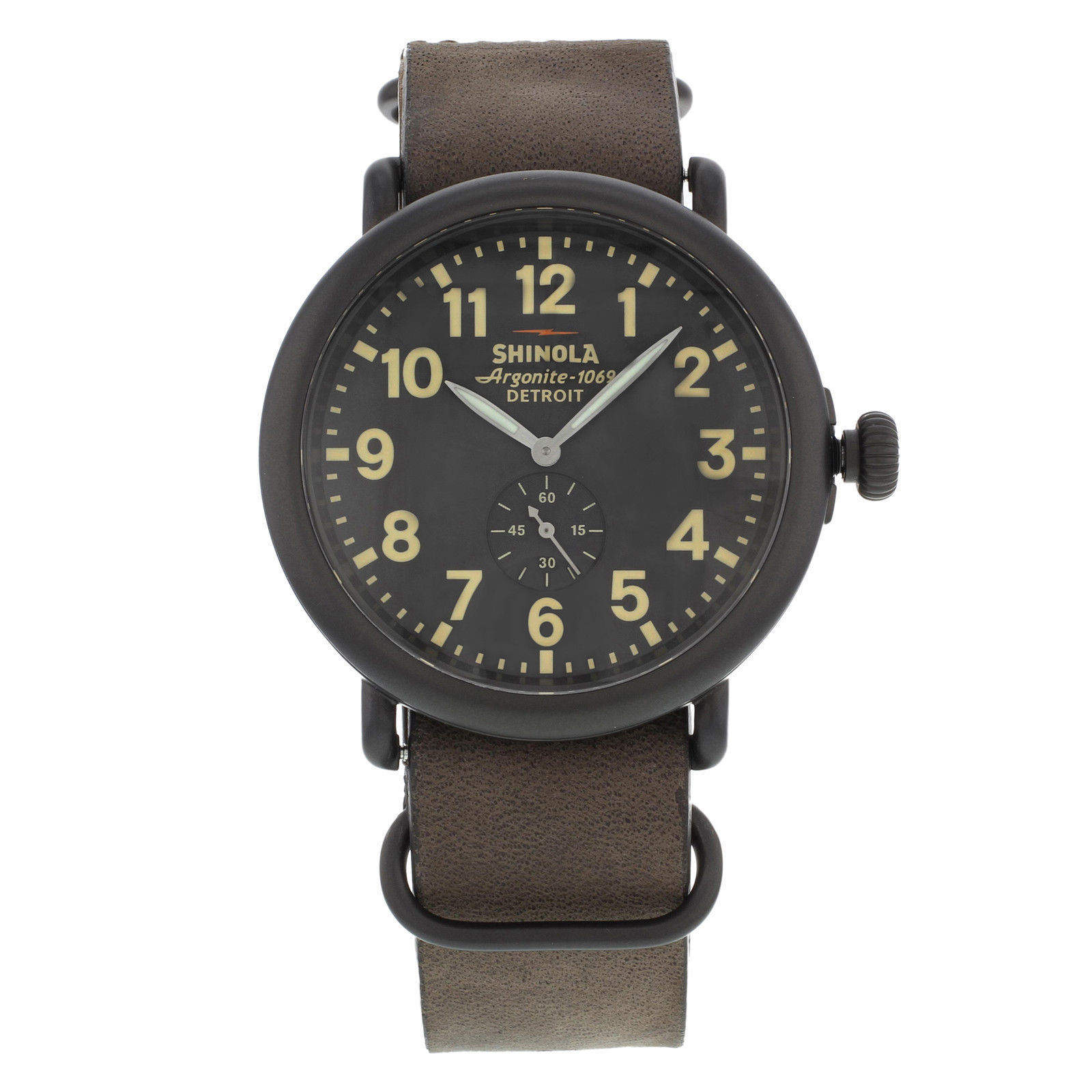 "Image of ""Shinola Detroit S0110000169 Stainless Steel Quartz 47mm Mens Watch"""