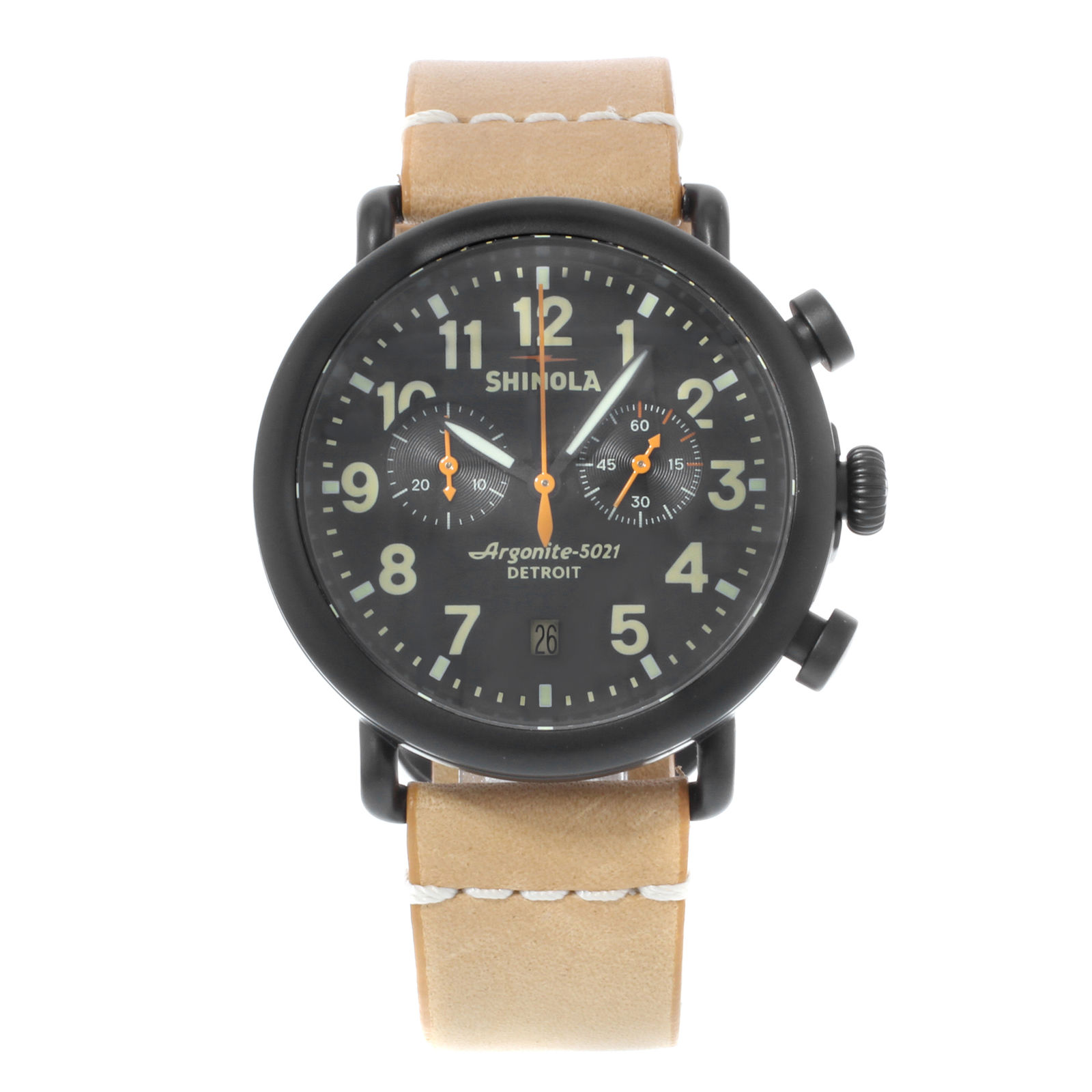 "Image of ""Shinola The Runwell S01000096 Chrono Stainless Steel Quartz 41mm Mens"""