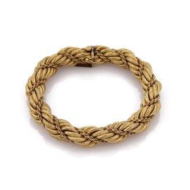 Tiffany & Co. 18K Yellow Gold Vintage Rope Style Bracelet