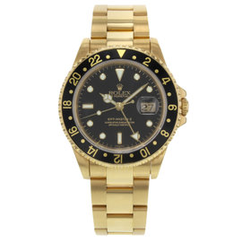 Rolex GMT-Master II 16718 18K Yellow Gold Automatic 40mm Mens Watch