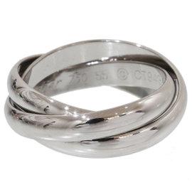 Cartier De 18K White Gold Trinity Ring Size 7.25