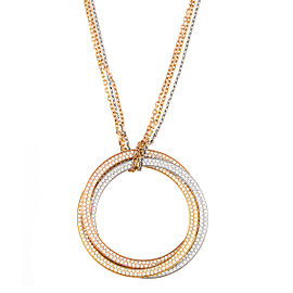 Cartier Yellow, Rose and White Gold 3 Circle Necklace