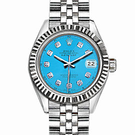 Rolex Datejust Stainless Steel with Blue Dial 36mm Mens Watch