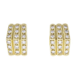Christian Dior Diamond 18K Yellow Gold Earrings