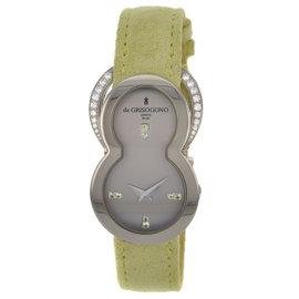 De Grisogono Be Eight S51 Factory Diamond 18K White Gold Quartz Womens Watch