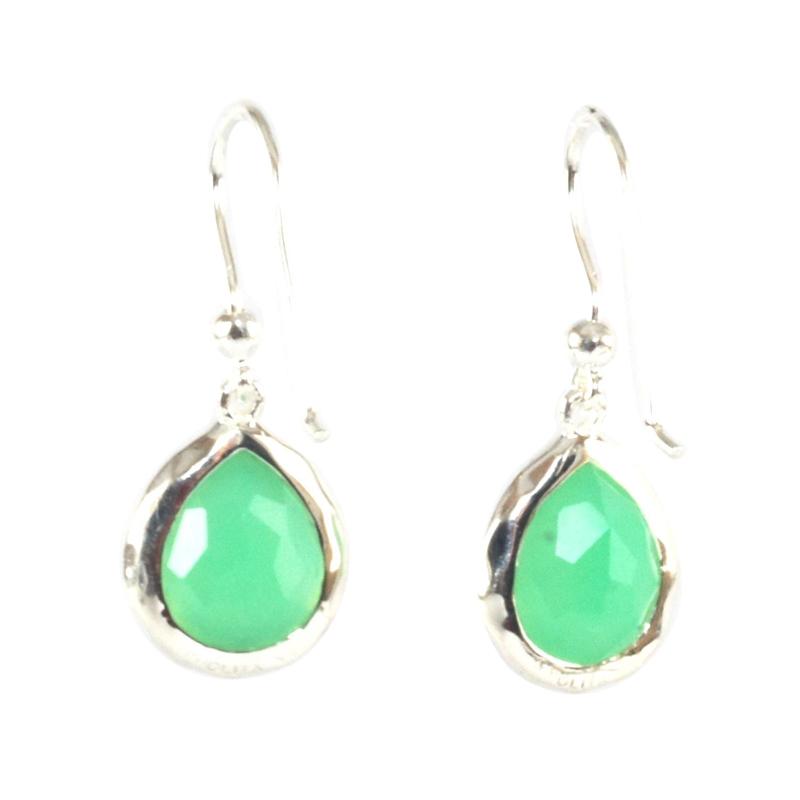 "Image of ""Ippolita Sterling Silver Green Chrysoprase Diamond Small Stella"""