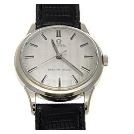 Omega Senior Nylic 14K White Gold Automatic Mens Watch