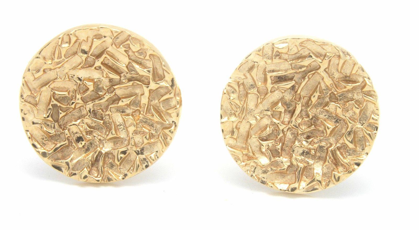 """Image of """"14K Yellow Gold Round Cufflinks"""""""