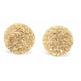 14K Yellow Gold Round Cufflinks