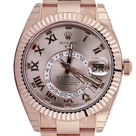 Rolex 326935 Sky Dweller 18K Rose Gold Oyster Perpetual Watch