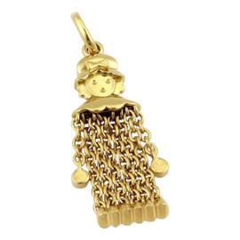 Pomellato 18K Yellow Gold Dangly Girl Pendant Charm
