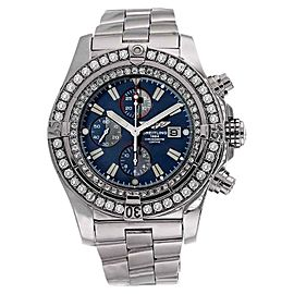 Breitling A13370 Super Avenger Blue Dial Diamond Bezel Watch