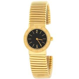 Bvlgari Bulgari Tubogas BB232TG 18K Yellow Gold Quartz Womens Watch