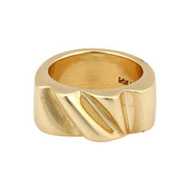 Vintage Barry Keiselstein Solid 14K Yellow Gold Wave Ring
