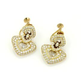 Chopard Happy Diamond 18k Y/Gold 2.50ctw Diamond Hearts Drop Dangle Earrings